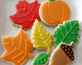 Fall Leaf Thanksgiving Cookies