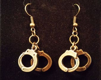 Gold Handcuff Earrings