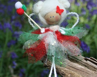 Ballerina fairy doll, Bendy doll, Tooth fairy, kawaii , Small fairy, Gift for girls, Fairy godmother, christening present, Godmother gift