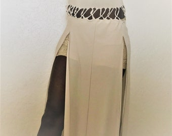 Double split high waisted skirt