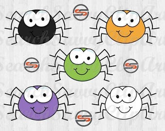 Cute Spider SVG, Spider SVG, Halloween, Cut Files, DXF, t-shirt transfer,  Instant Download, Cricut, Silhouette, Digital