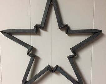 Railroad Spike Star. Rustic Country Decor