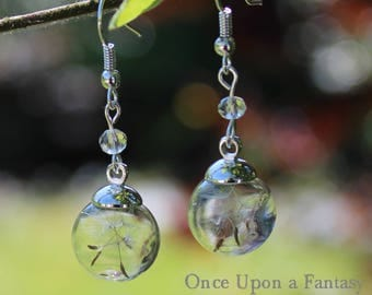 Mini bubbles flight of dandelion earrings