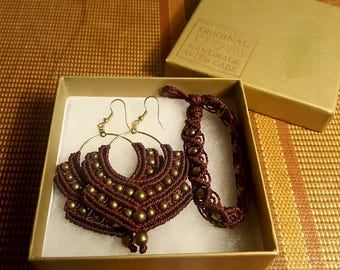 bollywood inspired chandalier earrings and/or matching bracelet