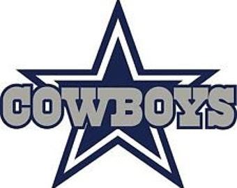 Dallas Cowboys Script Window/Car Decal