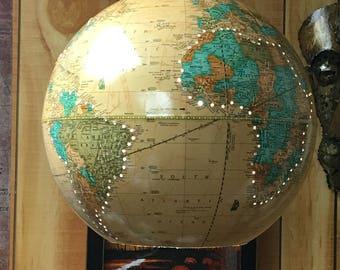 Vintage World Globe Pendant Light