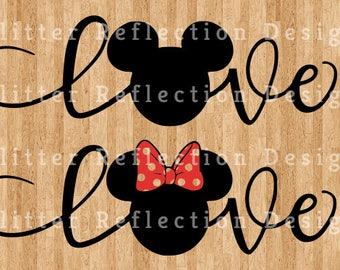 Mickey and Minnie Love SVG cutting file