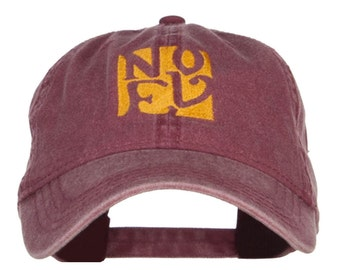 Christmas Noel Embroidered Washed Cap