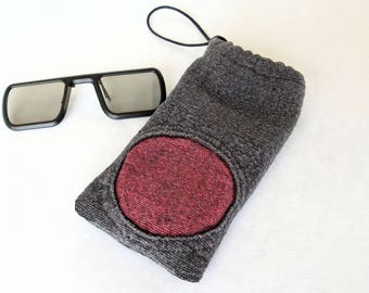 Cover glasses case, protection glasses, cover glasses, flexible glasses, fabric, phone case case case, telephone, pouch