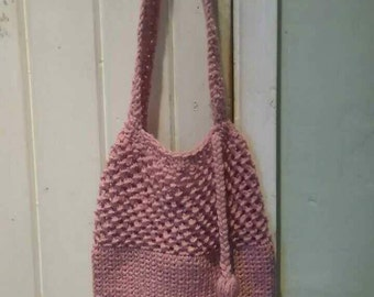 Hand crocheted Small shopping bag