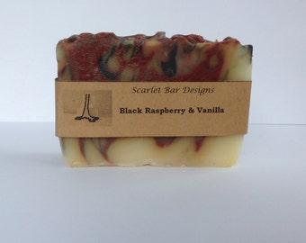 Handmade Black Raspberry & Vanilla Cold Process Soap