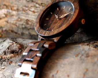 UNIQUE WATCH !!! Completely Wooden Watch | NUT  12 years Wood Watch | Wooden watch | Men's|Unisex watch | Warranty 2 years| Free engraving