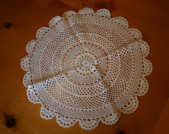 """13"""" Round Handmade Crocheted Lace  Doilies"""