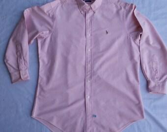 Vintage 90s Ralph Lauren Button Down Oxford Long sleeve Shirt M