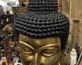 Hand Made Buddha Bust  Decor Craft Collectible