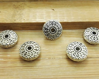 50pcs Antique Silver Beads , Tibetan Silver Beads ,   Wholesale Beads , Metal Spacers, Beads Spacers , Findings