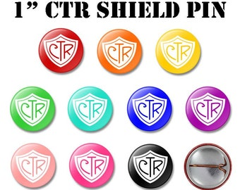 "TEN 2017 CTR SHIELD Buttons - Primary ""Choose the Right"" theme - (10)"