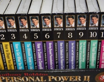 Anthony Robbins Personal power 12 audio books on cassette 24 cassettes self help motivational cassettes boxed set 6 used 6 new