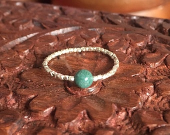 Silver ring and Indian agate