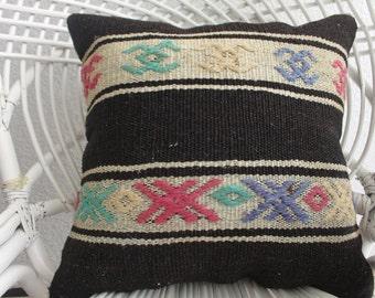 tissu azteque kilim bamboo couch sofa throw pillow embroidered pillow sham pattern rainbow kilim cushion 18x18 coloral cushion cover 1262
