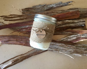 fig + rhubarb, soy candle, natural candle, small batch, hand poured, soy candles handmade, small soy candle