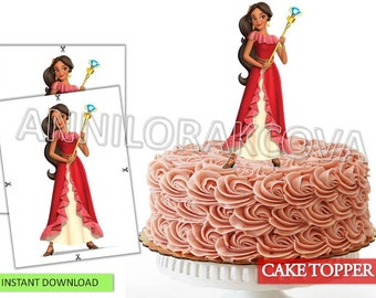 Elena of avalor Cake Toppers/ Elena of avalor Cake/ Printables/ Instant Download/ You Print 60% OFF