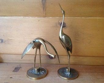 """MCM Brass Cranes Pair 12"""" Excellent"""