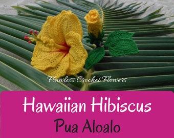 Hibiscus Crochet Flower, Crochet Hibiscus, Hawaiian Hibiscus, Crochet Flower Pattern