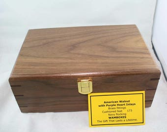 West Australian Jarrah with Jacaranda inlays Jewelery/Storage/Keepsake Box           No. 174