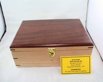 Jacaranda with Jarrah lid Keepsake/Jewelry/Storage Box                             No 179