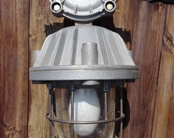 Old industrial pendant explosion-proof lamp