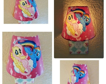 Night Light Girls Nursery Decor Childrens My Little Pony Room Wall Decor Pink