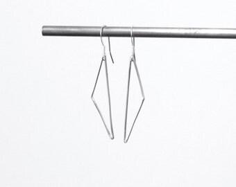 Sterling Silver Eco Friendly Side Ways Triangle Earrings