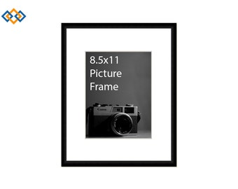 85x11 standard picture frame black