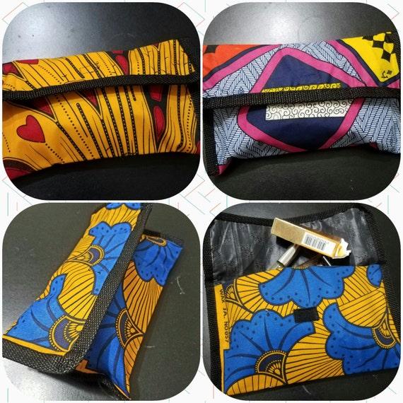 Ankara Makeup Bag/ Ethnic Cosmetics Bag/ African Cosmetics Bag