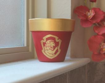 Gryffendor Themed Flower Pot