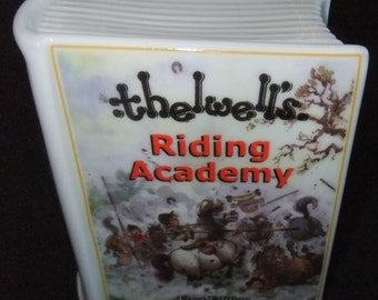 Thelwell's Riding Academy First Edition Savings Bank retro 1995 boxed by Royal Worcester