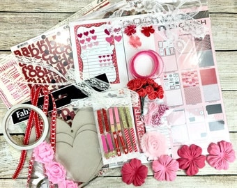 FREE SHIPPING Valentine Kit/Scrapbooking Kit/Crush Kit/Teresa Collins/Great for Mini Album,Altered Box,Scrapbook Layout