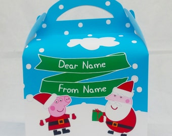 Peppa Pig Christmas Childrens Gift Box Party Favour