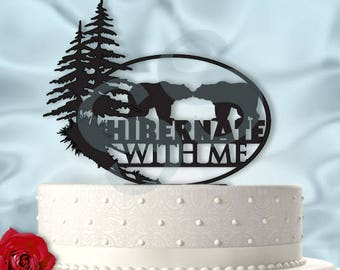 Bears Wedding Cake Topper Hibernate With Me