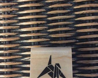 Paper Crane Oragami Rubber Stamp