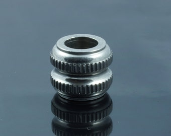 Stainless Steel Large Hole Barrel Beads.  10x12mm.  Hole 6mm