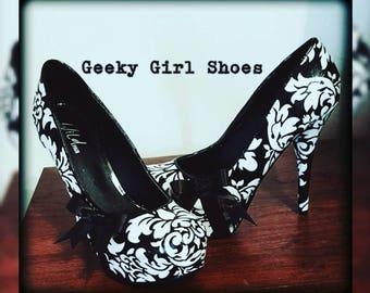 Damask theme shoes