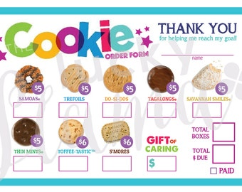 2018 Girl Scout Cookie Order Form - Printable