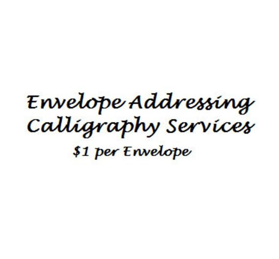 Wedding Calligraphy Services
