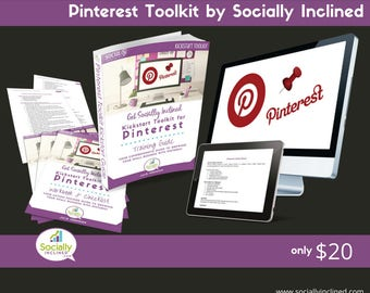 Pinterest Training - Social Media Marketing Training - Build Your Business With Pinterest Toolkit - 55 pg training, 18 pg Workbook, and more
