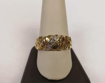 10K Gents Nugget Ring