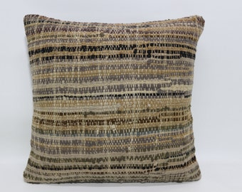 Vintage Cotton Kilim Pillow 20x20 Large Pillow Fllor Pillow Throw Kilim Pillow Ethnic Kilim Pillow Anatolian Kilim Pillwo  SP5050-1132