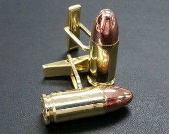 10 Pairs of Real Bullet 9mm Cufflinks