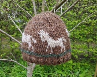 Icelandic wool hat with horses / Islandmütze für Kinder